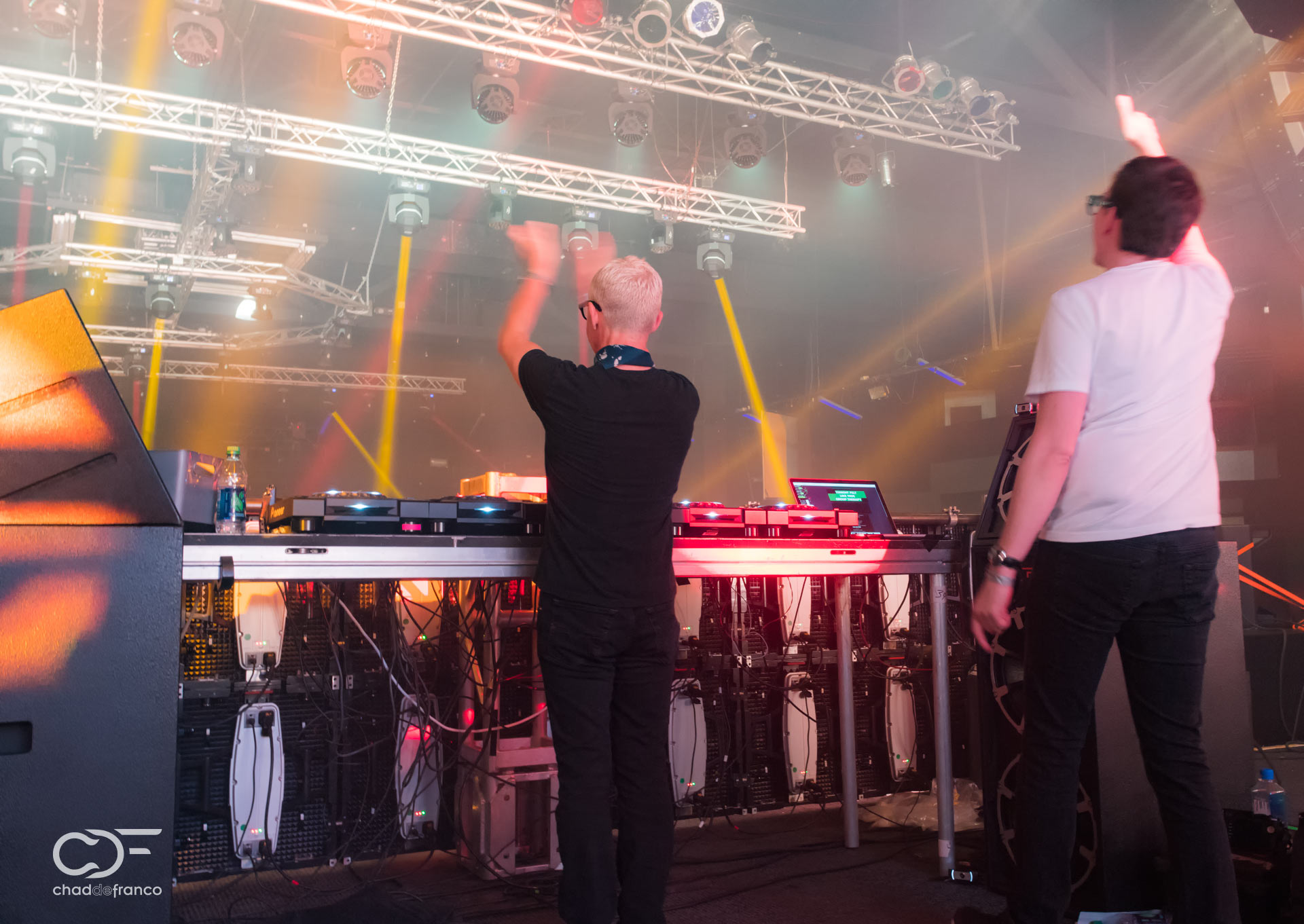 Behind the scenes Tony and Paavo in the booth