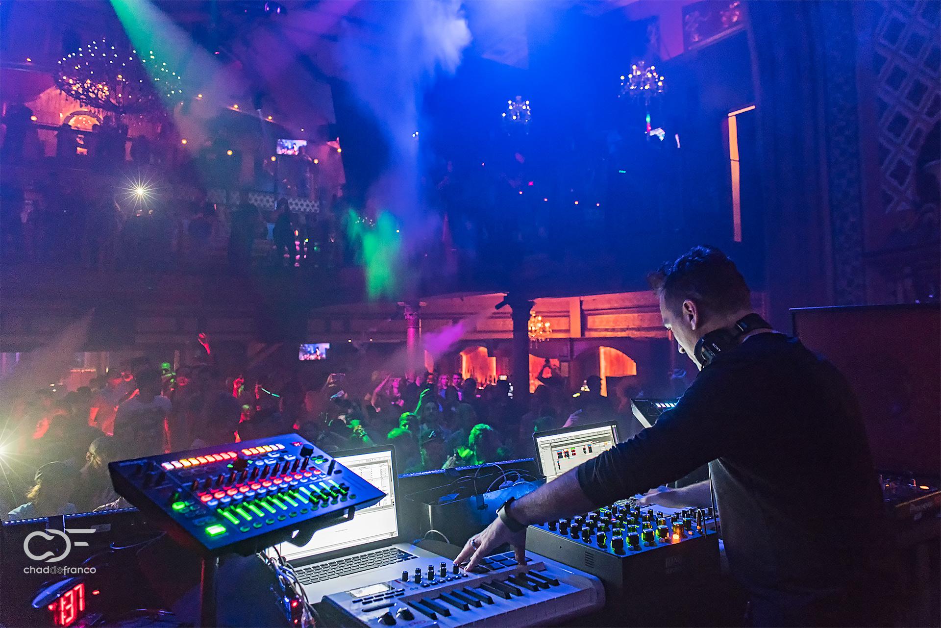 Paul van Dyk and his DJ setup