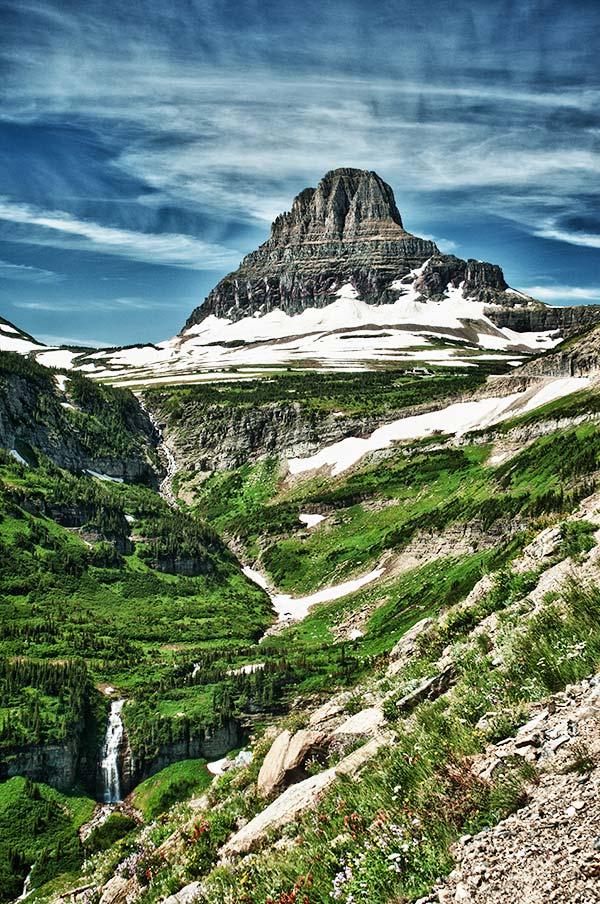 Mt Reynolds and Logan Pass, Glacier National Park, Montana