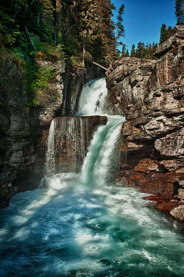 St Mary Falls Glacier National Park Montana